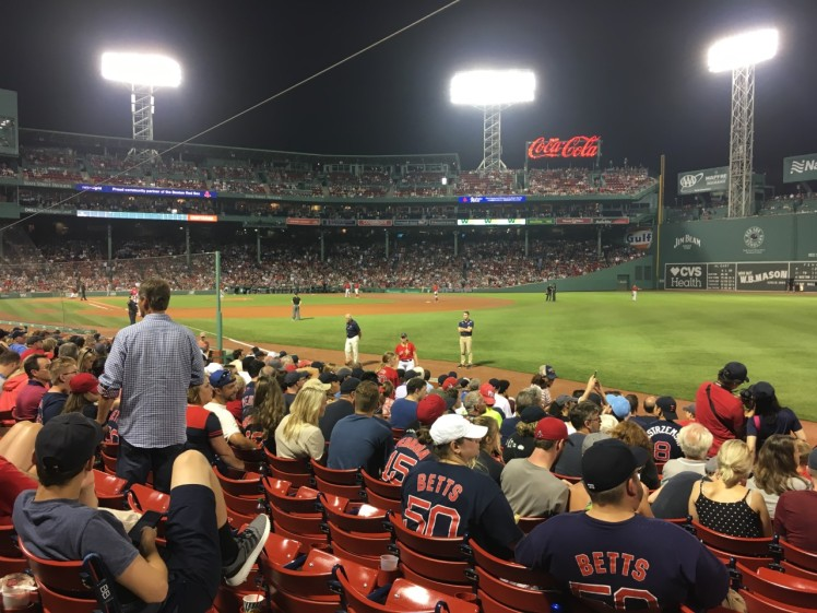 Evening at Fenway Park